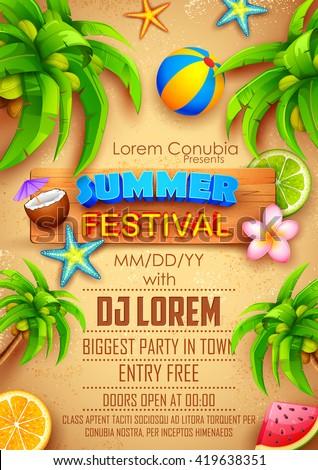 illustration of Summer Festival poster design