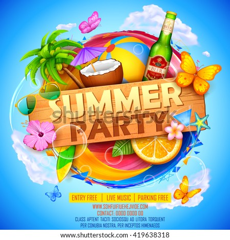illustration of summer party...