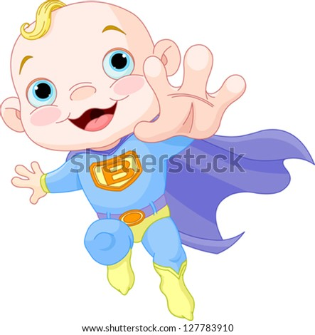 Illustration of Super Hero Baby Boy