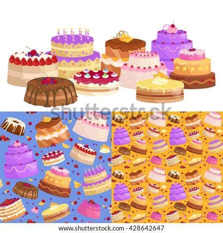 illustration of sweet baked