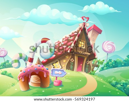 illustration of sweet house of