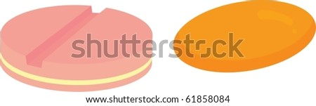 illustration of tablets on a white background #61858084