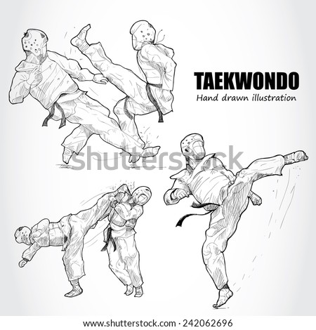 illustration of taekwondo hand