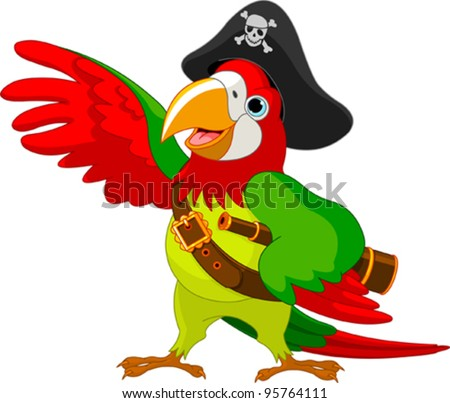 illustration of talking pirate