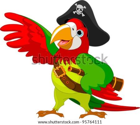 illustration of talking pirate