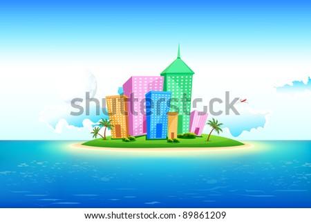 illustration of tall building