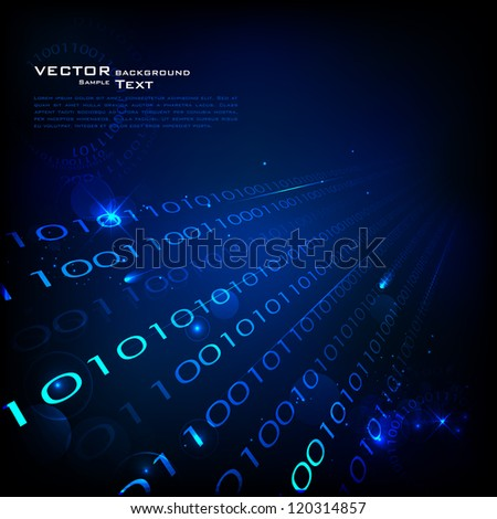 illustration of technology background with binary number