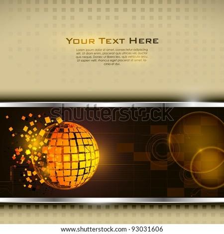 illustration of technology base template with broken globe