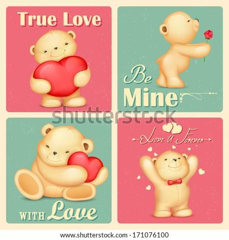 illustration of teddy bear in
