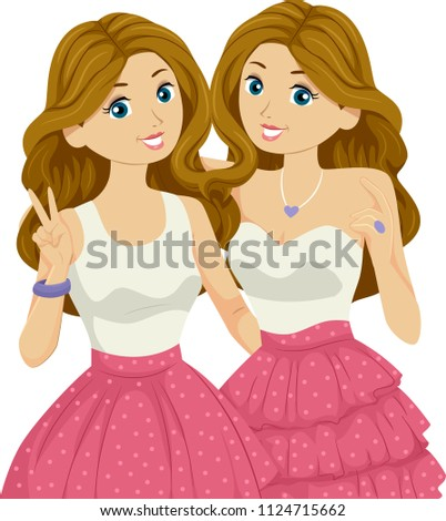 illustration of teenage girl
