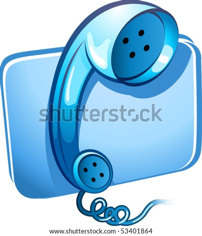 Illustration of telephone receiver