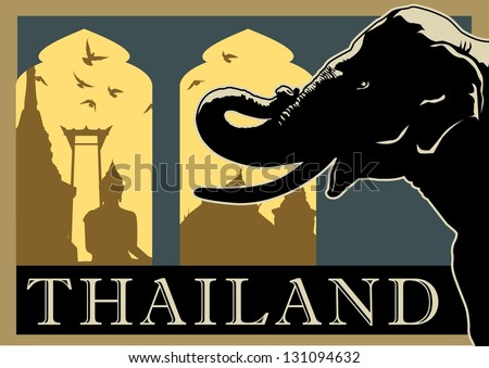 Thai Elephant Symbol Illustration of Thai Elephant