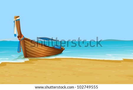 Illustration of Thailand holiday scene