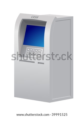 Illustration of the automatic teller machine