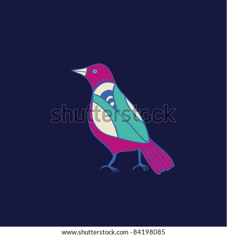 Illustration of the bird