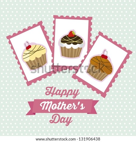 Illustration of the celebration of Mother's Day, vector illustration