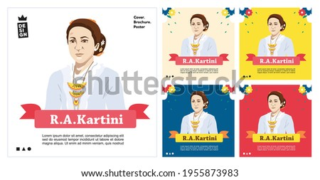 illustration of the concept of Kartini's day, women fighters, equality of women's rights day.