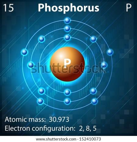 Illustration Of The Element Phosphorus - 152410073 : Shutterstock