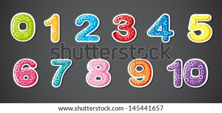 Illustration of the eleven numerical figures on a gray background