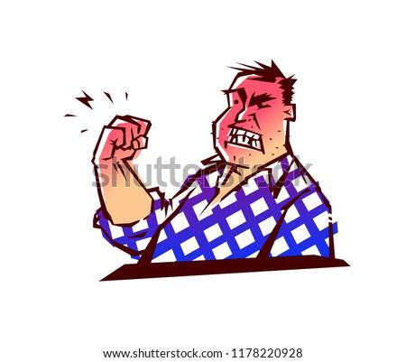 illustration of the evil man a