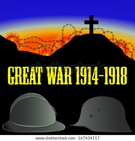 illustration of the First World War (the Great War)