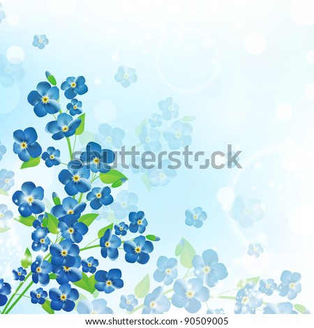 illustration of the forget-me-not flower background