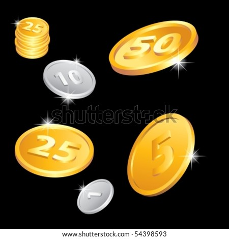 Illustration of the golden and silver coins