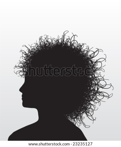 Illustration of the head of a woman (Vector) - stock vector
