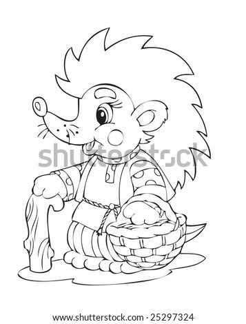 Illustration of the hedgehog worker