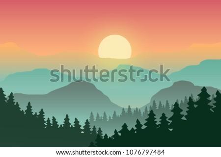 illustration of the landscape