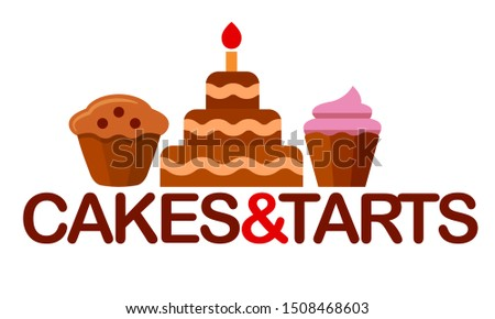 illustration of the logo and sign for confectionery signboard