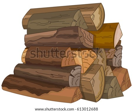 illustration of the logs of