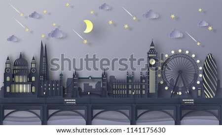 illustration of the london city