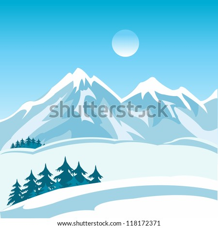 illustration of the mountain