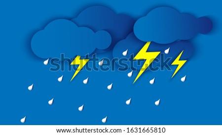 illustration of the rainy