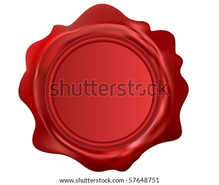 Illustration of the sealing wax over white background