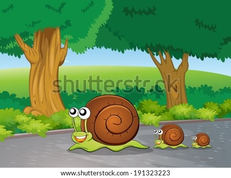 illustration of the snails at