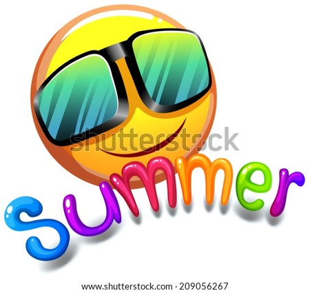Illustration of the summer icon on a white background Stok fotoğraf ©