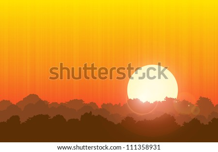 illustration of the sun and the
