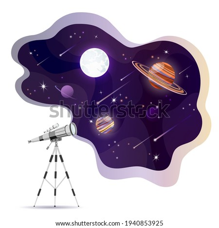 illustration of the telescope