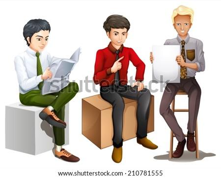 illustration of the three men