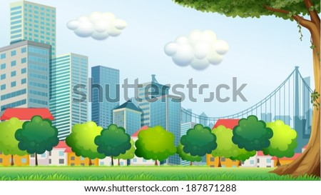 illustration of the trees near