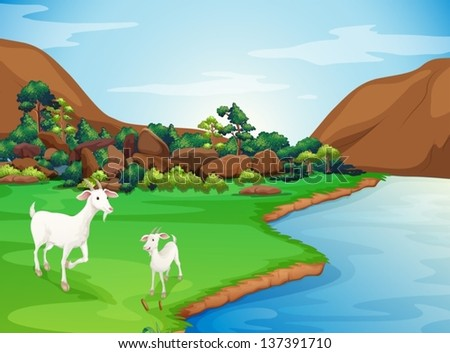 illustration of the two goats