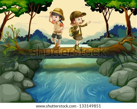 illustration of the two kids
