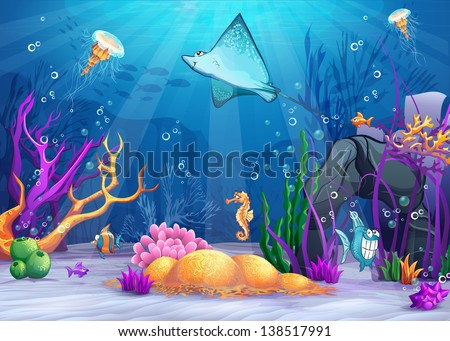 illustration of the underwater
