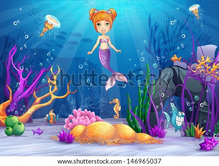 illustration of the underwater