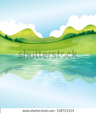 illustration of the water and