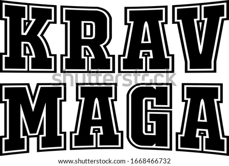 illustration of the words krav maga Stock fotó ©