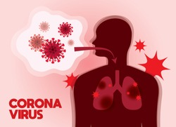 Illustration of the Wuhan Corona Virus. Pneumonia virus illustration.