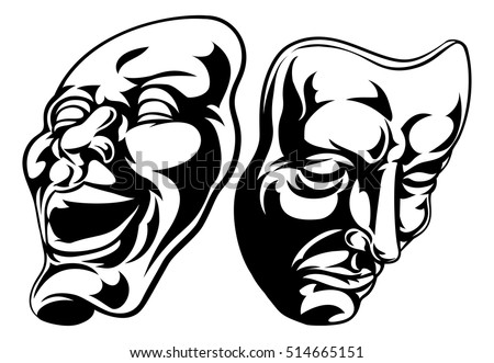 illustration of theatre comedy...